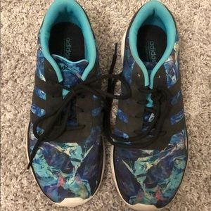 Size 9 floral adidas shoes